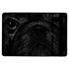Black bulldog iPad Air Flip