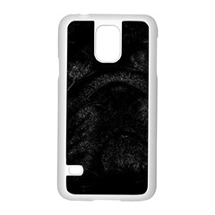Black bulldog Samsung Galaxy S5 Case (White)