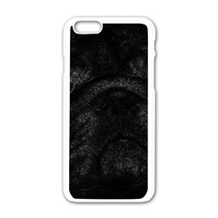 Black bulldog Apple iPhone 6/6S White Enamel Case