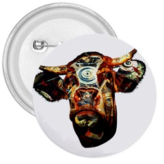Artistic Cow 3  Buttons
