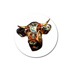 Artistic Cow Magnet 3  (Round)