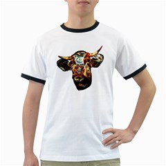 Artistic Cow Ringer T-Shirts