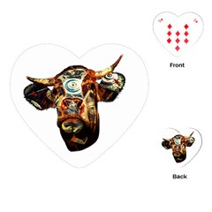 Artistic Cow Playing Cards (Heart)