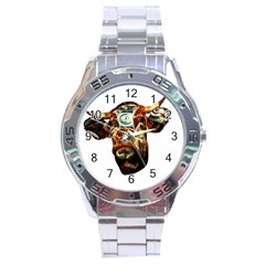 Artistic Cow Stainless Steel Analogue Watch