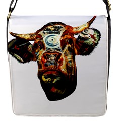 Artistic Cow Flap Messenger Bag (S)