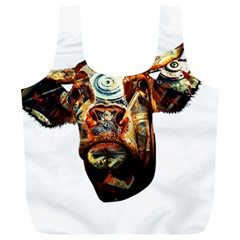 Artistic Cow Full Print Recycle Bags (L)