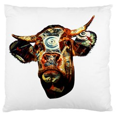 Artistic Cow Large Flano Cushion Case (Two Sides)