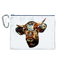 Artistic Cow Canvas Cosmetic Bag (L)