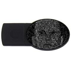 Silent USB Flash Drive Oval (1 GB)