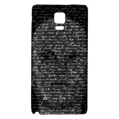 Silent Galaxy Note 4 Back Case