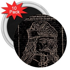 Count Vlad Dracula 3  Magnets (10 pack)