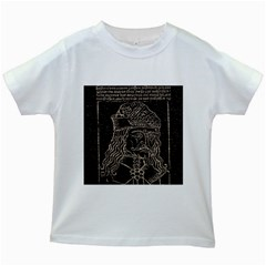 Count Vlad Dracula Kids White T-Shirts