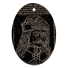 Count Vlad Dracula Oval Ornament (Two Sides)