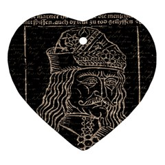Count Vlad Dracula Heart Ornament (Two Sides)
