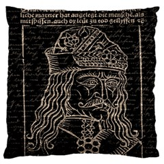 Count Vlad Dracula Large Cushion Case (One Side)