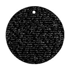 Handwriting  Ornament (Round)