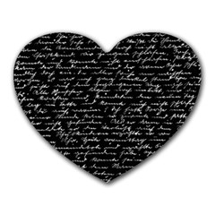 Handwriting  Heart Mousepads