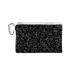 Handwriting  Canvas Cosmetic Bag (S)