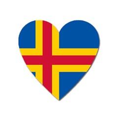 Flag of Aland Heart Magnet