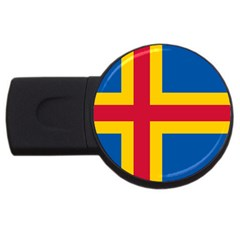 Flag of Aland USB Flash Drive Round (1 GB)