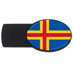 Flag of Aland USB Flash Drive Oval (1 GB)