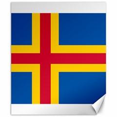 Flag of Aland Canvas 8  x 10