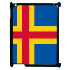 Flag of Aland Apple iPad 2 Case (Black)