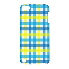 Gingham Plaid Yellow Aqua Blue Apple iPod Touch 5 Hardshell Case