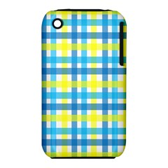 Gingham Plaid Yellow Aqua Blue Iphone 3s/3gs