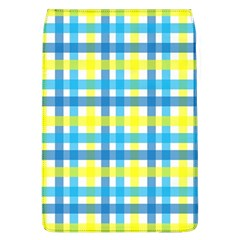 Gingham Plaid Yellow Aqua Blue Flap Covers (L)
