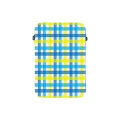 Gingham Plaid Yellow Aqua Blue Apple Ipad Mini Protective Soft Cases