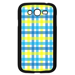 Gingham Plaid Yellow Aqua Blue Samsung Galaxy Grand Duos I9082 Case (black)