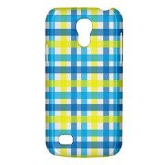Gingham Plaid Yellow Aqua Blue Galaxy S4 Mini