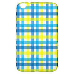 Gingham Plaid Yellow Aqua Blue Samsung Galaxy Tab 3 (8 ) T3100 Hardshell Case