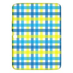 Gingham Plaid Yellow Aqua Blue Samsung Galaxy Tab 3 (10.1 ) P5200 Hardshell Case