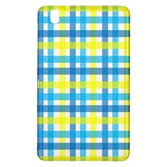 Gingham Plaid Yellow Aqua Blue Samsung Galaxy Tab Pro 8 4 Hardshell Case