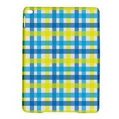 Gingham Plaid Yellow Aqua Blue iPad Air 2 Hardshell Cases