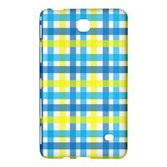Gingham Plaid Yellow Aqua Blue Samsung Galaxy Tab 4 (7 ) Hardshell Case
