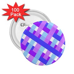 Geometric Plaid Gingham Diagonal 2 25  Buttons (100 Pack)