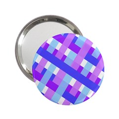 Geometric Plaid Gingham Diagonal 2 25  Handbag Mirrors