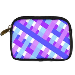 Geometric Plaid Gingham Diagonal Digital Camera Cases