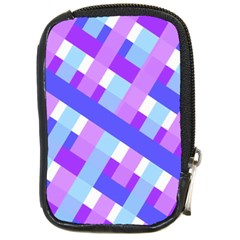 Geometric Plaid Gingham Diagonal Compact Camera Cases