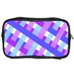 Geometric Plaid Gingham Diagonal Toiletries Bags