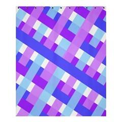 Geometric Plaid Gingham Diagonal Shower Curtain 60  X 72  (medium)