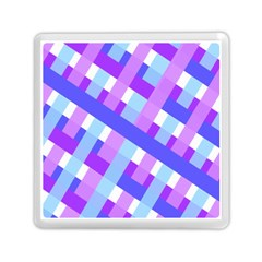 Geometric Plaid Gingham Diagonal Memory Card Reader (square)