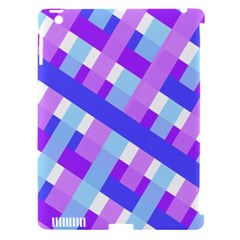 Geometric Plaid Gingham Diagonal Apple iPad 3/4 Hardshell Case (Compatible with Smart Cover)