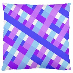 Geometric Plaid Gingham Diagonal Large Cushion Case (one Side)