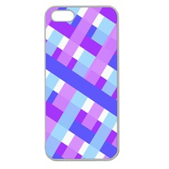 Geometric Plaid Gingham Diagonal Apple Seamless iPhone 5 Case (Clear)