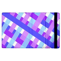 Geometric Plaid Gingham Diagonal Apple Ipad 2 Flip Case
