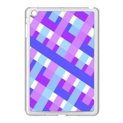 Geometric Plaid Gingham Diagonal Apple Ipad Mini Case (white)